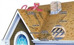 roof damage examples
